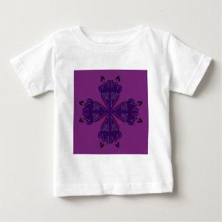 Mandala pourpre t-shirt pour bébé