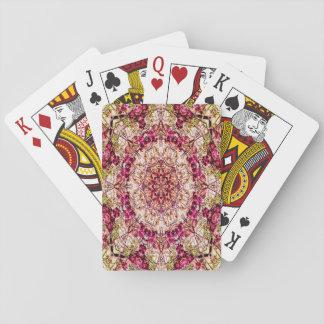Mandala rouge de bourgeon… jeux de cartes