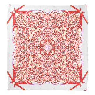 Mandala rouge de carré de beauté bandana