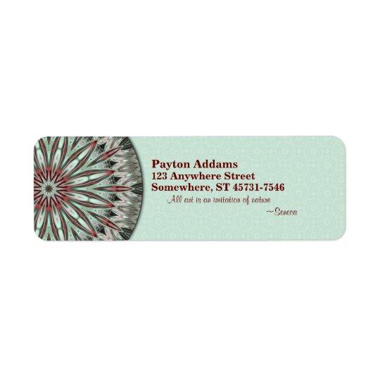 Mandala simple de beauté - étiquette de adresse de