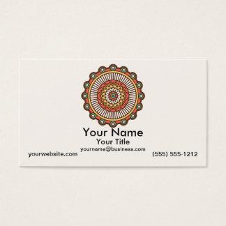 Mandala sur la crème cartes de visite