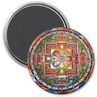 Mandala Tantric tibétain vintage de bouddhisme Magnets