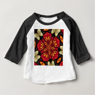 Mandala tropical de fleurs et de papillons t-shirt pour bébé