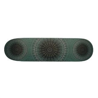 Mandala turquoise foncé planches à roulettes