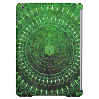 Mandala vert de fleur