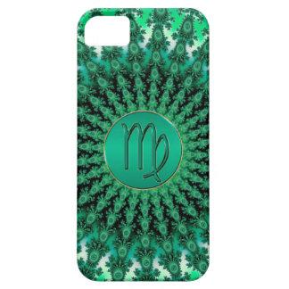 Mandala vert de fractale de Vierge de signe de Coque Case-Mate iPhone 5