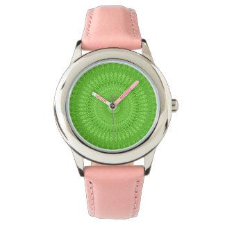 Mandala vert montres bracelet