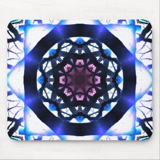 Mandala vibrant de lumière d'étoile tapis de souris
