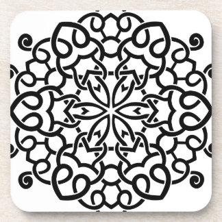 Mandala vintage de concepteurs : blanc noir sous-bocks