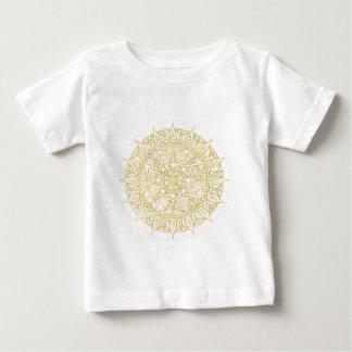 Mandala vintage oriental élégant en or classique t-shirt pour bébé