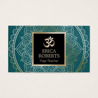 Mandala vintage Teal de professeur de yoga et de Cartes De Visite