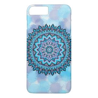 Mandala violet bleu coque iPhone 7 plus