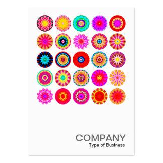 Mandalas colorés carrés de la photo 091 - 25 carte de visite grand format