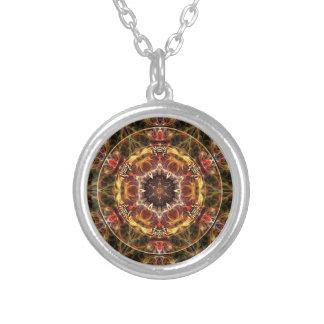 Mandalas du coeur de la liberté 17 cadeaux pendentif rond