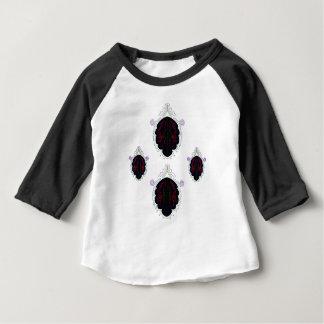 Mandalas noirs et blancs t-shirt pour bébé