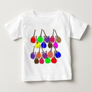 mandoline d'arc-en-ciel t-shirt pour bébé