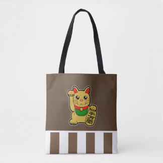 Maneki Neko : Chat chanceux d'or Tote Bag