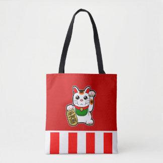 Maneki Neko : Chat chanceux japonais Tote Bag