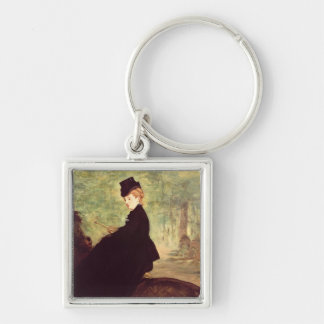 Manet | l'amazone, 1875 porte-clé carré argenté