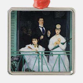 Manet | le balcon, 1868-9 ornement carré argenté