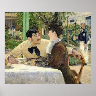Manet | le jardin de Pere Lathuille, 1879 Poster