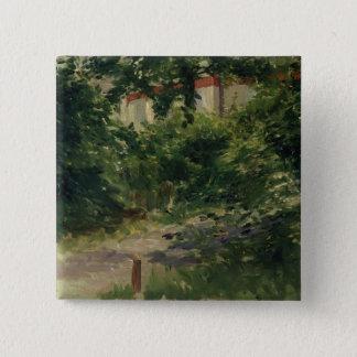 Manet | un coin du jardin en Rueil, 1882 Pin's