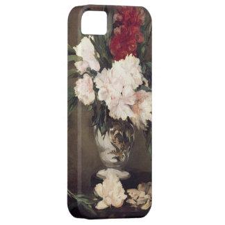Manet : Vase de pivoines sur une petite illustrati Coques iPhone 5