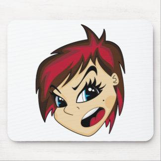 Manga a dénommé la fille Mousepad d'Emo Tapis De Souris