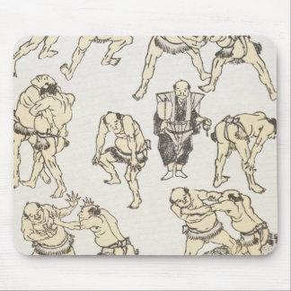 Manga : études des gestes et postures de lutte tapis de souris