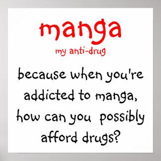 manga, ma anti-drogue, parce que quand vous êtes i affiches