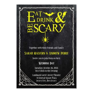 Mangez, boisson et soyez invitation effrayant de