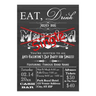 Mangez, buvez, et soyez tableau simple choisit la carton d'invitation  12,7 cm x 17,78 cm