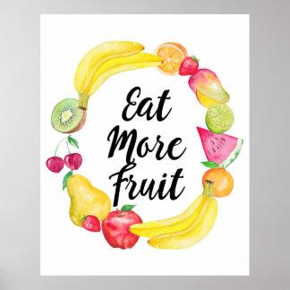 Mangez de plus de fruit poster