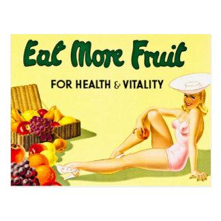 Mangez de plus de fruit pour le cru de santé et de cartes postales