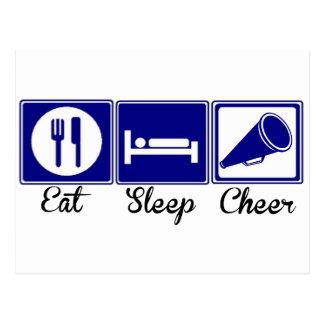 Mangez, dormez, encouragez carte postale