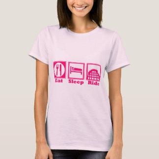 Mangez, dormez, et montez (des montagnes russes) - t-shirt