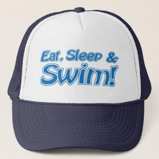 Mangez, dormez et nagez ! Casquette
