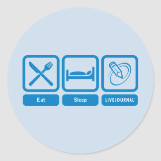Mangez, dormez, LiveJournal Sticker Rond