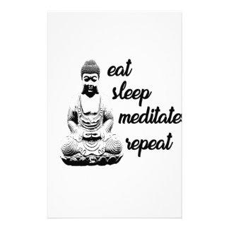 Mangez, dormez, méditez, répétez papeterie