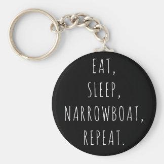 """""""Mangez, dormez, Narrowboat, porte-clés de"""