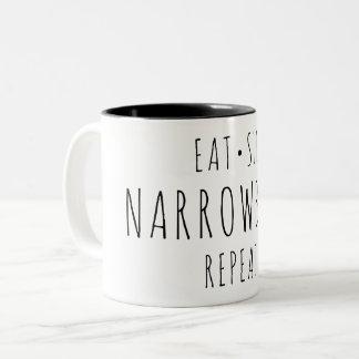 """Mangez, dormez, Narrowboat, tasse de répétition"""