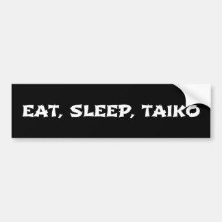 Mangez, dormez, Taiko Autocollant De Voiture