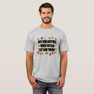 Mangez et jetez la chemise de disque mise par tir t-shirt