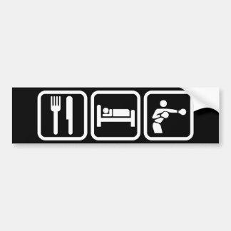 Mangez la boxe de sommeil autocollant de voiture