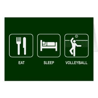 Mangez la carte de volleyball de sommeil