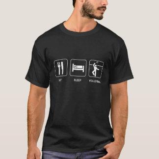 Mangez la chemise de volleyball de sommeil t-shirt