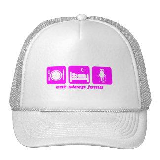 mangez la corde de saut de sommeil casquettes de camionneur