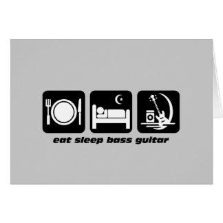 mangez la guitare basse de sommeil carte de vœux