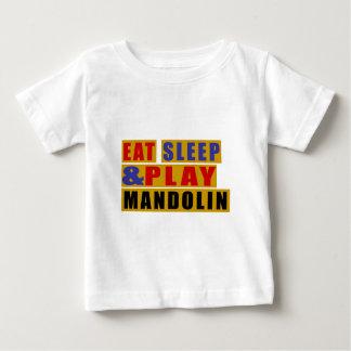 Mangez la MANDOLINE de sommeil et de jeu T-shirt Pour Bébé