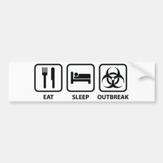 Mangez la manifestation de sommeil autocollant de voiture